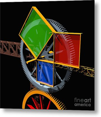 Pythagorean Machine Metal Print