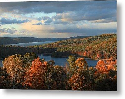 Quabbin Reservoir Autumn Metal Print by John Burk