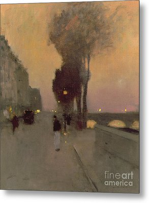 Quai Bourbon, Paris Metal Print by Luigi Loir