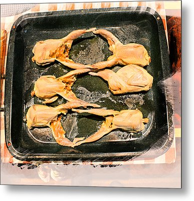 Quail Family Butchery Metal Print