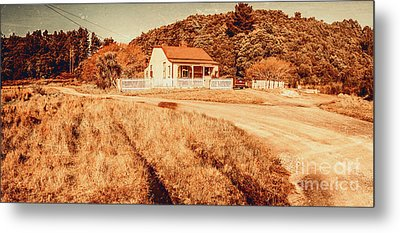 Quaint Country Cottage Metal Print by Jorgo Photography - Wall Art Gallery
