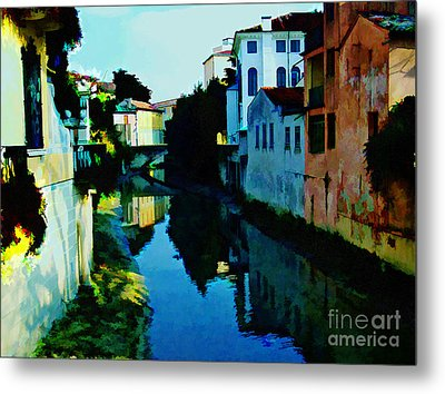 Metal Print featuring the photograph Quaint On The Canal by Roberta Byram