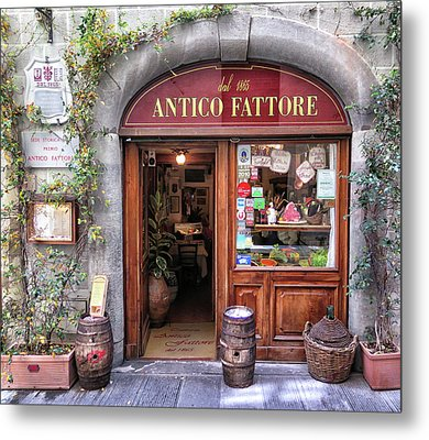 Quaint Restaurant In Florence Metal Print