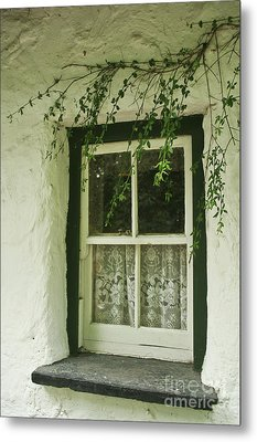 Metal Print featuring the photograph Quaint Window In Ireland by Christine Amstutz