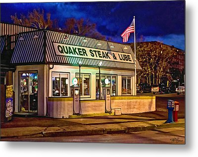 Metal Print featuring the photograph Quaker Steak And Lube by Skip Tribby