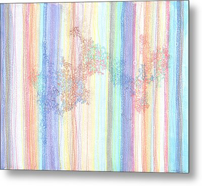 Quantum Foam Metal Print by Regina Valluzzi