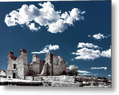 Quarai New Mexico - Infrared False Color Metal Print by Christine Till