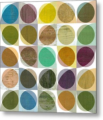 Quarter Circles Layer Project One Metal Print by Michelle Calkins