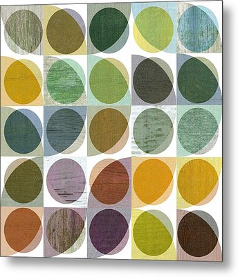 Quarter Circles Layer Project Two Metal Print by Michelle Calkins