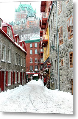 Quebec City Winter Metal Print by Thomas R Fletcher