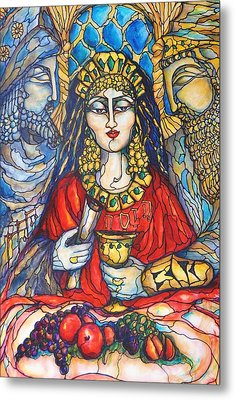 Queen Esther Metal Print by Rae Chichilnitsky