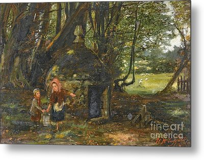 Queen Mary Well, Barncluith Metal Print