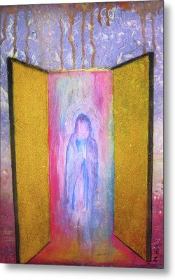 Metal Print featuring the painting Queen Of Heaven by Mary Ellen Frazee