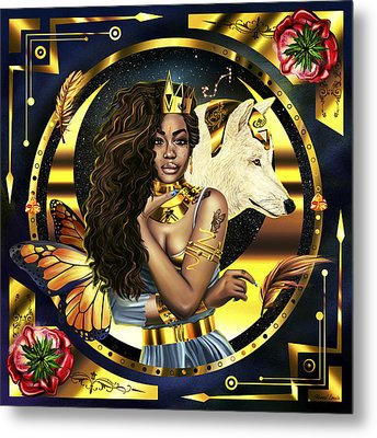 Queen Sza Illustration Metal Print by Kenal Louis