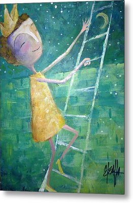 Metal Print featuring the painting Queens Climb Higher by Eleatta Diver