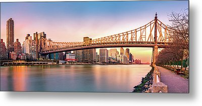 Queensboro Bridge At Sunset Metal Print by Mihai Andritoiu