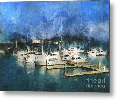 Queensland Marina Metal Print by Claire Bull