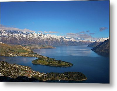 Metal Print featuring the photograph Queenstown Panoramic by Odille Esmonde-Morgan