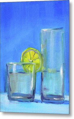 Metal Print featuring the painting Quench by Nancy Merkle