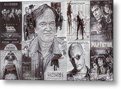 Quentin Tarantino Poster Drawing Metal Print