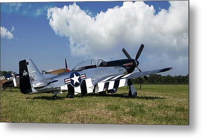 Quick Silver P-51 Color Metal Print by Peter Chilelli