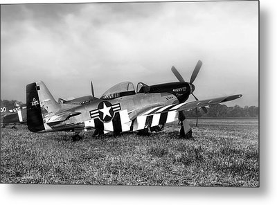 Quick Silver P-51 Mustang Metal Print by Peter Chilelli