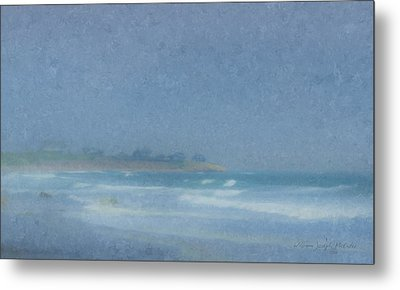 Foggy Afternoon At Little Compton Ri Metal Print by Bill McEntee