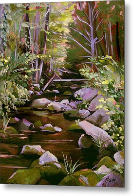 Quiet Brook Metal Print by Nancy Griswold