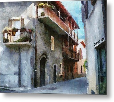 Quiet In Almenno San Salvatore Metal Print by Jeff Kolker