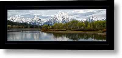 Metal Print featuring the photograph Quiet Morning At Oxbow Bend by Jaki Miller