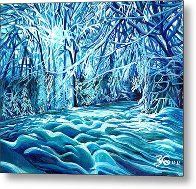Quiet Of Winter Metal Print by Suzanne King