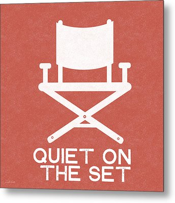 Quiet On Set 2- Art By Linda Woods Metal Print