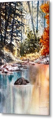 Quiet Reflections Metal Print by Carolyn Rosenberger