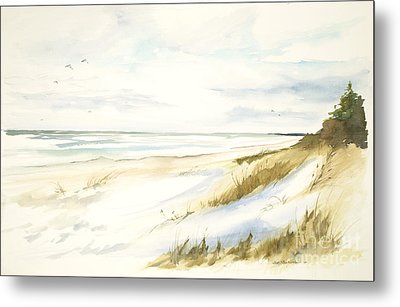Metal Print featuring the painting Quiet Season by Sandra Strohschein