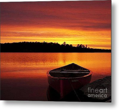Quiet Sunset Metal Print by Rod Jellison