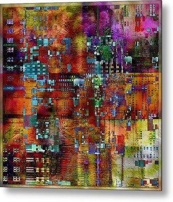 Quilt Metal Print by Barbara Berney