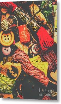 Quilting In Crochet Metal Print