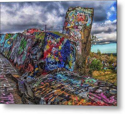 Quincy Quarries Graffiti Metal Print