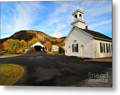 Quintessential New England Metal Print by Catherine Reusch Daley