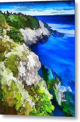 Quoddy Coast - Abstract Metal Print