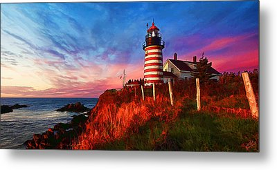 Quoddy Head Sunrise Metal Print by ABeautifulSky Photography