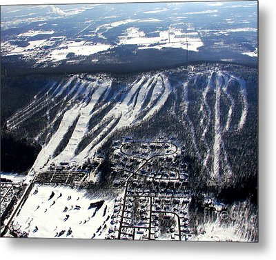 R-021 Rib Mountain Wisconsin Winter Metal Print by Bill Lang