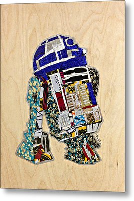 R2-d2 Star Wars Afrofuturist Collection Metal Print by Apanaki Temitayo M