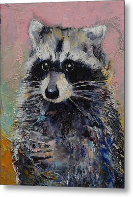 Raccoon Metal Print by Michael Creese