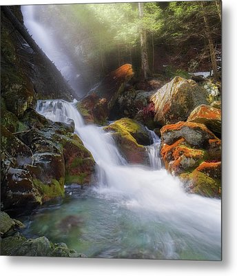 Metal Print featuring the photograph Race Brook Falls 2017 Square by Bill Wakeley