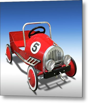 Metal Print featuring the photograph Race Car Peddle Car by Mike McGlothlen