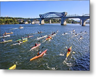 Race On The River Metal Print