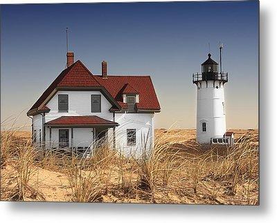 Race Point Lighthouse Cape Cod Metal Print by Dapixara Art