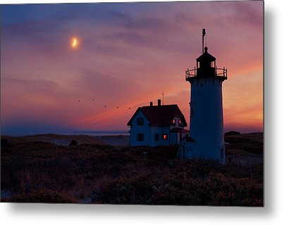 Race Point Lighthouse Standing Guard Metal Print