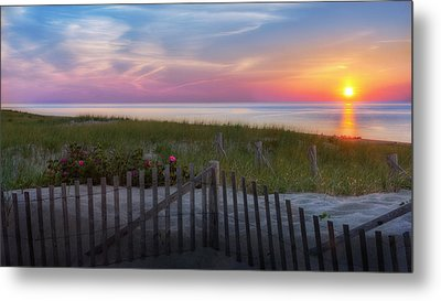 Metal Print featuring the photograph Race Point Sunset 2015 by Bill Wakeley